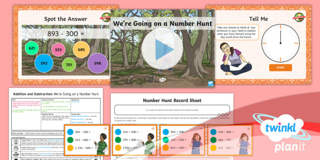 PlanIt Y3 Addition and Subtraction Lesson Pack Add and Subtract Numbers Mentally (6) - Addition and Subtraction, Add, more, plus, and, altogether, total, equal to, equals, count on, subtr