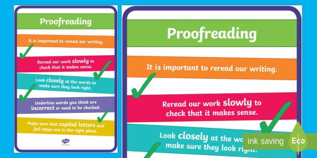 Proofreading Prompts Display Poster-Australia - editing, rereading, proofreading, checking your work, reading your writing,Australia