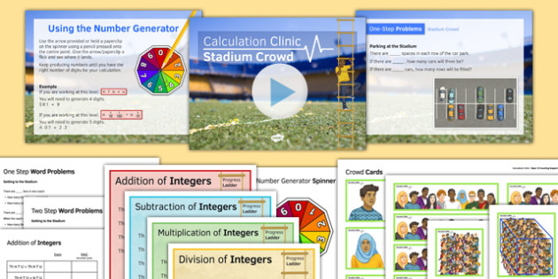 Calculation Clinic Stadium Crowd - KS3, KS4, GCSE, Maths, calculation, addition, subtraction, multiplication, division, low ability, practise, assessment