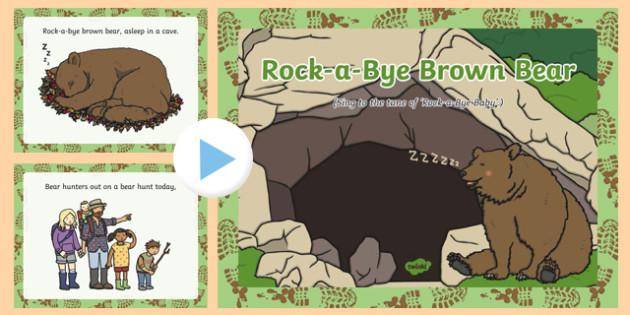 Rock-a-Bye Brown Bear Song PowerPoint