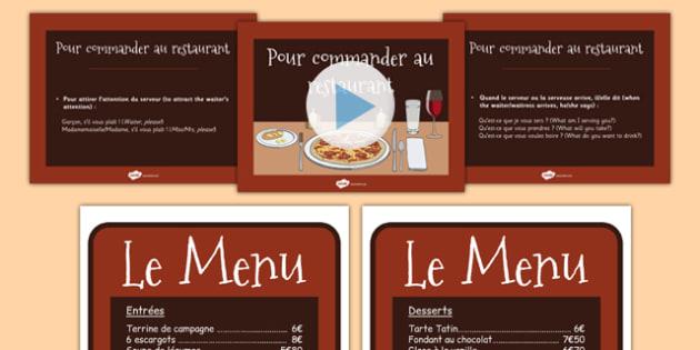 Apprendre à commander au restaurant - french, Apprendre, commander, au restaurant, language