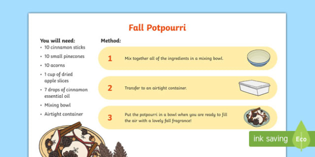 Fall Potpourri Craft Instructions