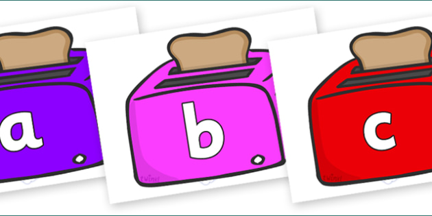 Phoneme Set on Toasters - Phoneme set, phonemes, phoneme, Letters and Sounds, DfES, display, Phase 1, Phase 2, Phase 3, Phase 5, Foundation, Literacy