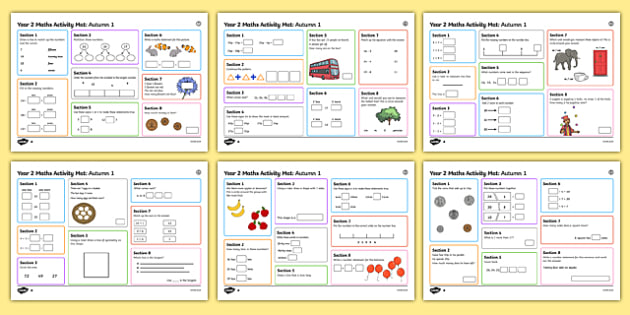 Year 2 Autumn 1 Maths Activity Mats