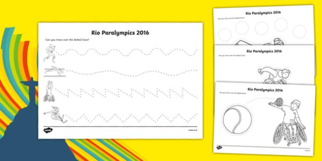 Rio Paralympics 2016 Pencil Control Activity Sheet Pack, worksheet