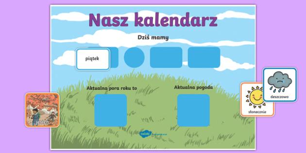 Daily Weather Calendar Weather Chart Long Date Format Polish-Polish