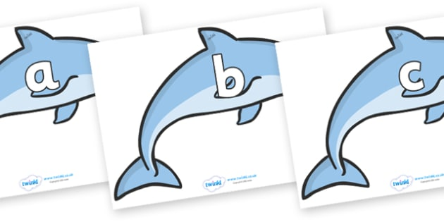 Phase 2 Phonemes on Dolphins - Phonemes, phoneme, Phase 2, Phase two, Foundation, Literacy, Letters and Sounds, DfES, display