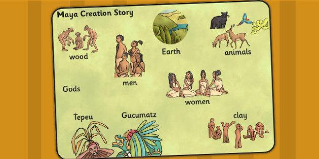Mayan Civilization Creation Story Word Mat - ancient maya, mayans