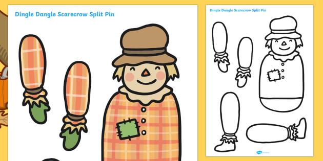 Scarecrow Split Pin - scarecrow, split pin, scarecrow activites, cutting activities, cutting games, creative, design, art, wet play, puppets, dolls