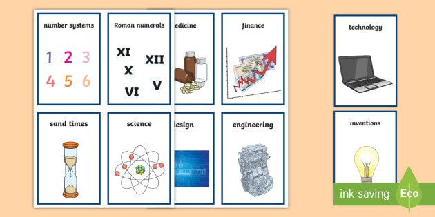 CfE First Level Numeracy and Mathematics Impact on the World, Past, Present and Future Keyword Flashcards - Wall Display, keywords, MTH 1-12a, language of maths, vocabulary, word wall,Scottish