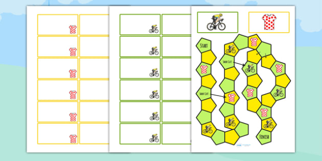 Tour de Yorkshire Themed Editable Board Game - le tour, games, sport