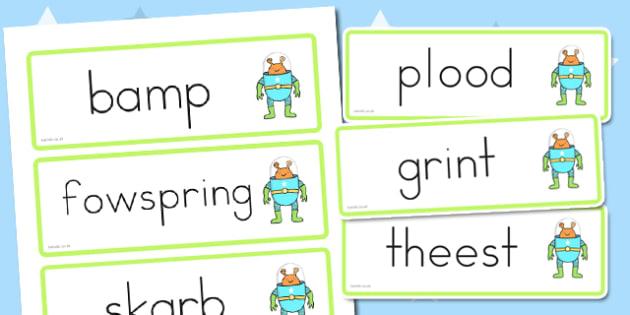 Phase 4 Nonsense Word Cards - australia, phase 4, nonsense, cards