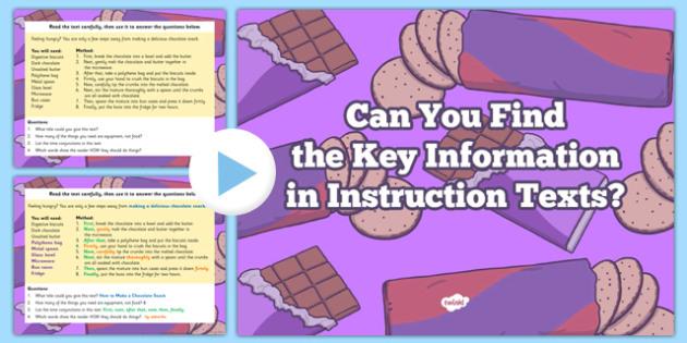 Retrieve Record Information Non Fiction Morning Task Instruction PowerPoint