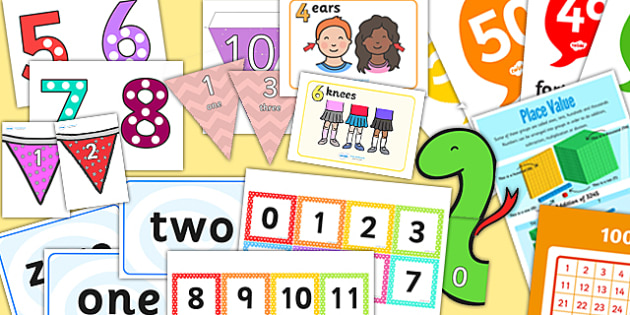 Number and Place Value Display Pack KS1 Year 2 - place value, display pack