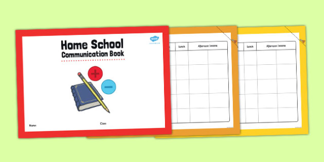 Home School Communication Book Primary Timetable Version - home school, communication, book, primary, timetable