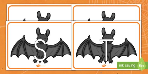 Murciélagos tarjetas de fonemas