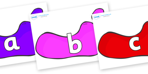 Phoneme Set on Footprints - Phoneme set, phonemes, phoneme, Letters and Sounds, DfES, display, Phase 1, Phase 2, Phase 3, Phase 5, Foundation, Literacy