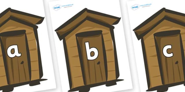 Phase 2 Phonemes on Sheds - Phonemes, phoneme, Phase 2, Phase two, Foundation, Literacy, Letters and Sounds, DfES, display