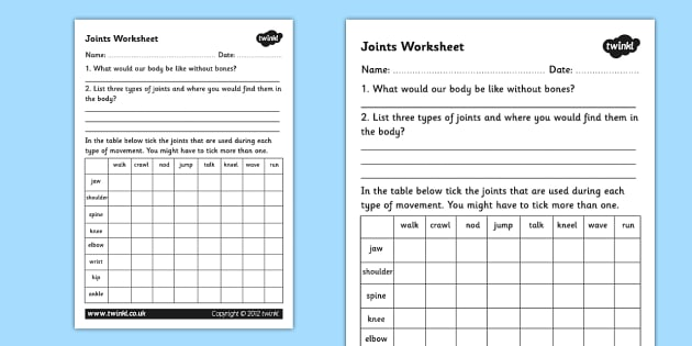 Figurative Language Worksheets 5th Grade Excel Joints Worksheet  Joints The Human Body Movement Muscles Weight Measurement Worksheets Word with Algebraic Expressions Worksheets 7th Grade Pdf Joints Worksheet  Joints The Human Body Movement Muscles Tendons How Counting Numbers Worksheet Word
