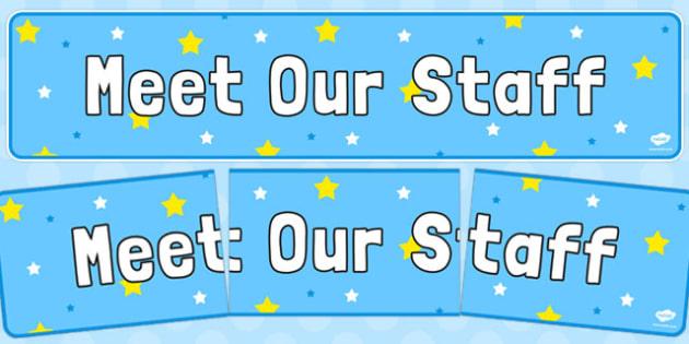 Meet Our Staff Display Banner - display banner, meet, staff, display