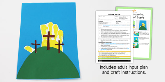Easter Morning Handprint Craft EYFS Adult Input Plan And Craft Pack