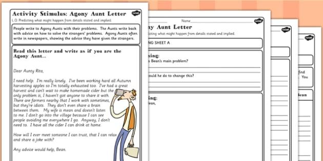 Fantastic Mr Fox Agony Aunt Letter to Bean Worksheet - mr fox