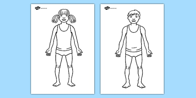 Body Template Worksheet - Hospital Role Play, hospital resources, people who help us, nurser, doctor, hospital, ward, bandages, role play, display, poster
