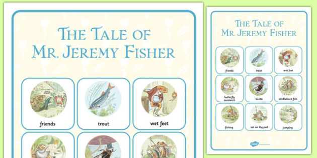 Beatrix Potter - The Tale of Mr Jeremy Fisher Vocabulary Poster - beatrix potter, story, story book, tale, mr jeremy fisher, vocabulary, poster, display