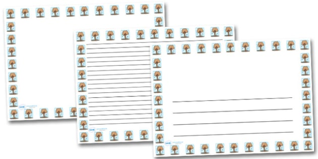 Autumn Tree Landscape Page Borders- Landscape Page Borders - Page border, border, writing template, writing aid, writing frame, a4 border, template, templates, landscape
