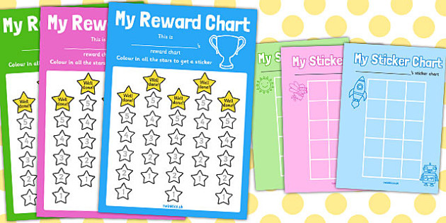 Reward Sticker Chart (Stars) - Reward Chart, Reward Sticker