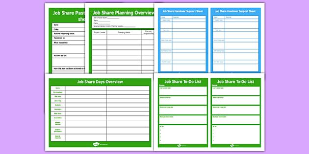 Job Share Teacher Resource Pack