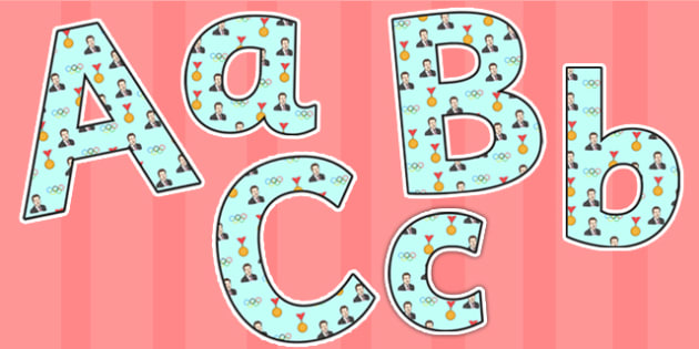 Sebastian Coe Themed A4 Display Lettering - sebastian coe, display lettering, themed lettering, classroom lettering, lettering, a4  letters, letter display