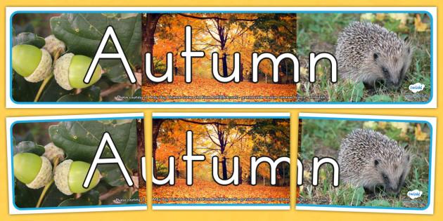Four Seasons Photo Display Banner Autumn - seasons, autumn
