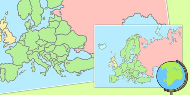 Blank Map of Europe Poster - blank, map, europe, poster, display