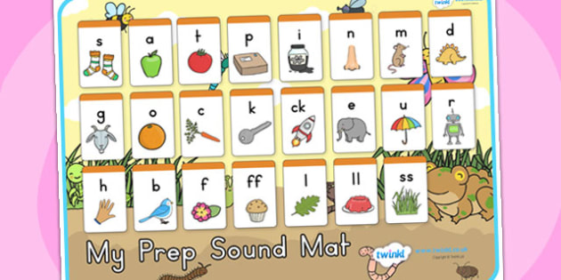 Minibeasts Cute Prep Sound Mat - sounds, sounds mat, prep sounds