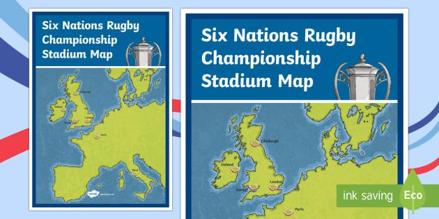 Six Nations Rugby Championship Stadium Map-Scottish - CfE, calendar events, Scotland, Scottish, traditions, history, celebrations, Six Nations, Six nation