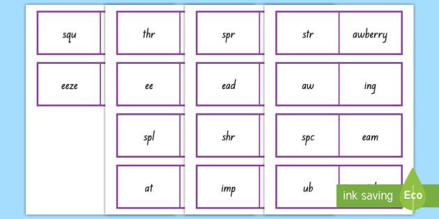 Triple Consonant Blends Matching Activity Cards - Phonics, blends, triple consonants