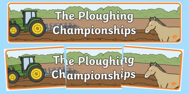 National Ploughing Championships Display Banner-Irish