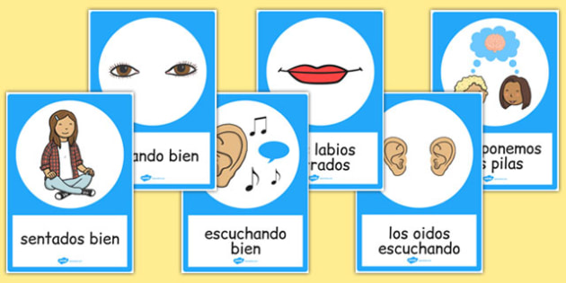 Good Listening Posters Spanish - spanish, good listening, posters, display, communication