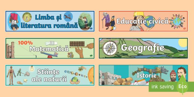 Discipline de studiu CCD - planșe, afișe, de afișat pe perete, discipline, materii, elevi, matematică, științem limba rom
