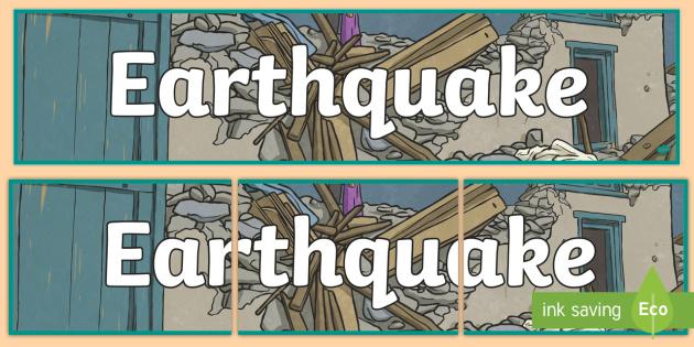 Earthquake Display Banner