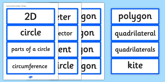 Year 6 2014 Curriculum Geometry Properties of Shapes Vocabulary