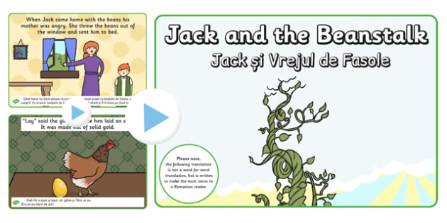 Jack and the Beanstalk Story PowerPoint EAL Romanian Translation