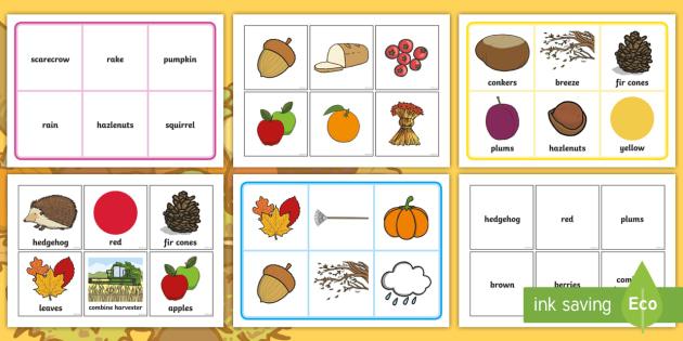Autumn Themed Bingo - bingo, game, autumn, seasons, leaves,