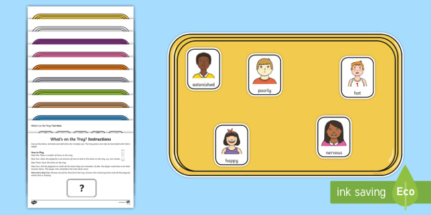 What's on the Tray? Feelings-Themed Memory Activity Pack