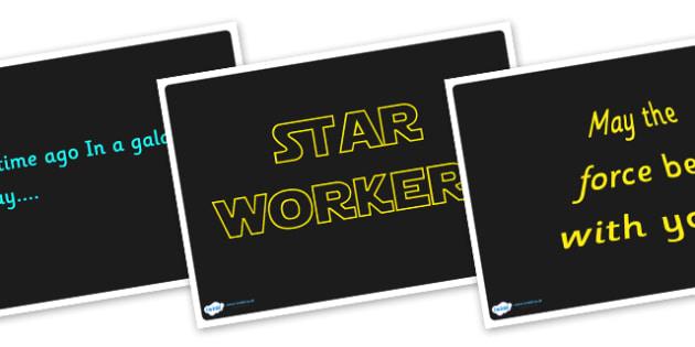 Star Wars Quote Display Posters - display, posters, star wars, films, tv, star wars quotes, quotes, quotes display posters, star wars display posters, star wars posters, starwars, A4 posters, poster, classroom display posters