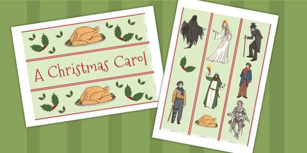 A Christmas Carol Display Borders - christmas, carol display, scrooge, Charles Dickens