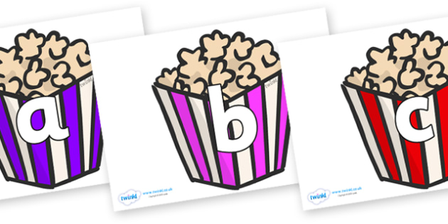 Phoneme Set on Popcorn - Phoneme set, phonemes, phoneme, Letters and Sounds, DfES, display, Phase 1, Phase 2, Phase 3, Phase 5, Foundation, Literacy