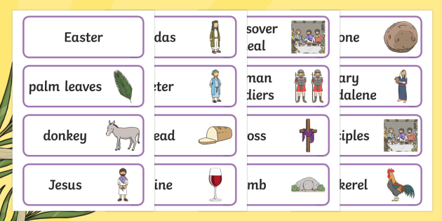 Easter Story Picture Word Cards - easter, SEN, sensory, PMLD, P Scales