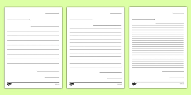 Friendly Letter Writing Paper Letter to Future Teacher Writing – Letter Writing Paper Template